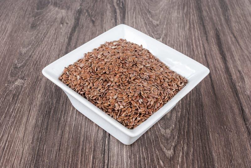Lnów ziaren linseed zapobiegać choroby i kontrolną nadwaga obraz stock