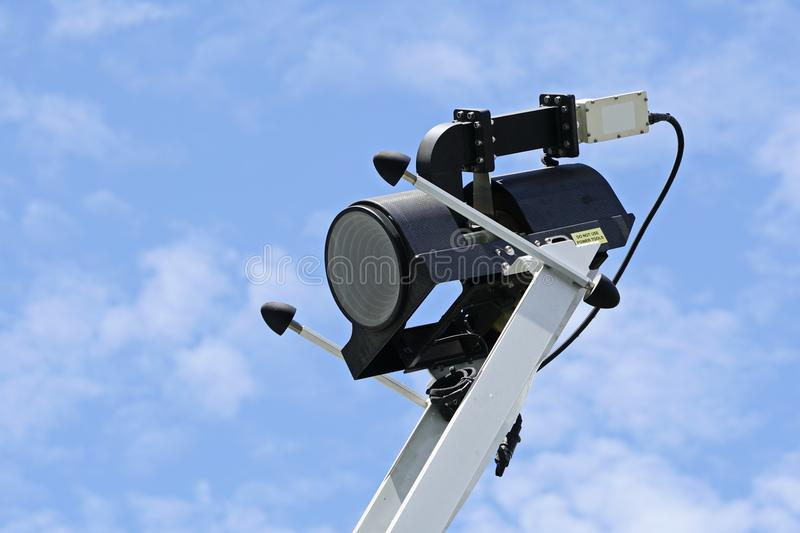 LNB Satellite. Communication System. Transmission signal with blue sky background stock photography