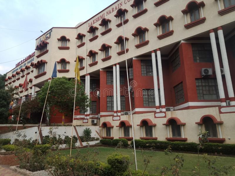 Lnct college of engineering and technology Bhopal in India. Sakata forest land mark which is located in Seoni district in stock photography