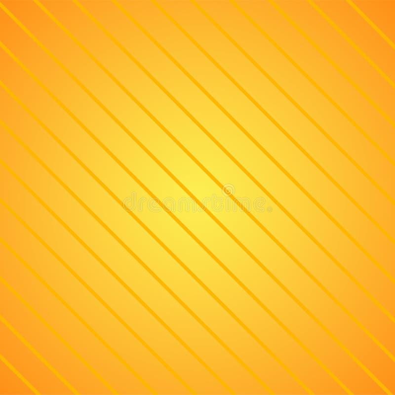 Lnfinite przekątny wzór kolorów żółtych lampasy przeciw dopasowywania tłu Powtórka nachylanie Wykłada w złocie kreatywnie ilustracji