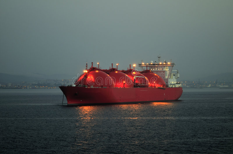 Download LNG Carrier Ship For Natural Gas Stock Image - Image: 9264407