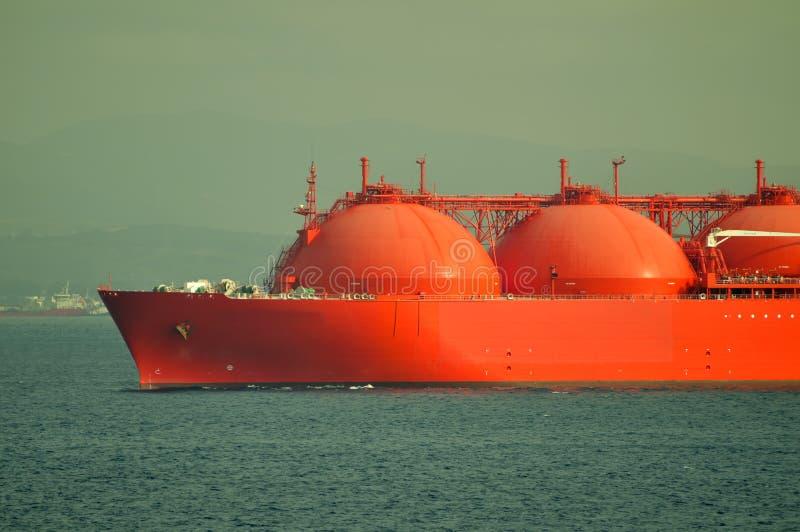 LNG-Lieferung für Erdgas stockfotos