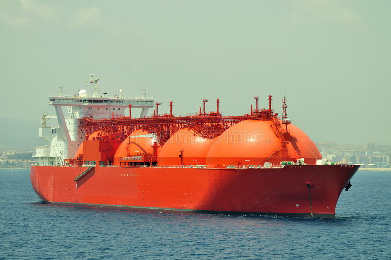 LNG ship for natural gas stock photo