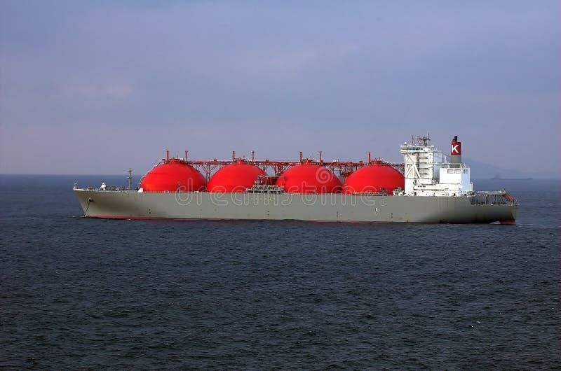 LNG-tankerschip voor het natuurlijke schip royalty-vrije stock fotografie
