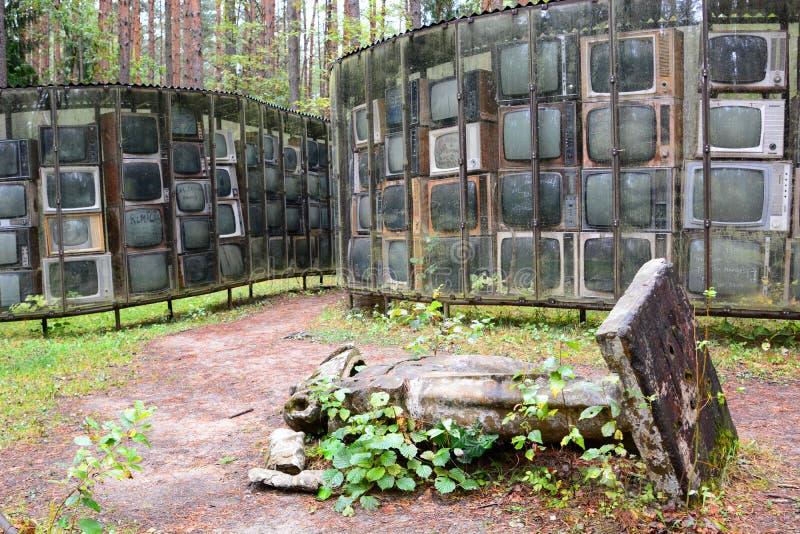LNK Infotree par Karosas Parkas d'Europos vilnius lithuania images libres de droits