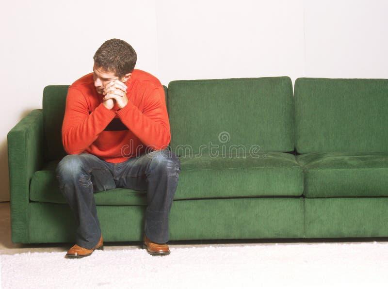 A lo largo de la depresión. imagen de archivo