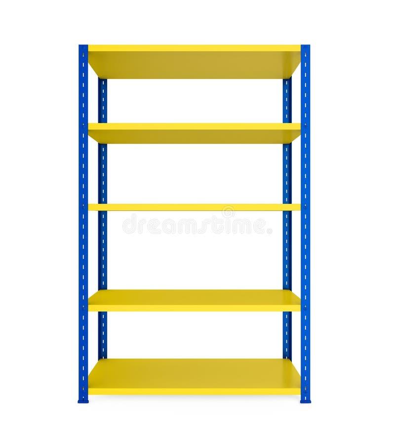 Lo scaffale del metallo accantona isolato illustrazione di stock
