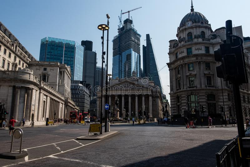 Lo scambio reale a Londra fotografia stock libera da diritti