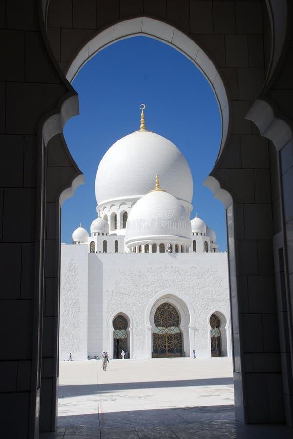 Lo sceicco zayed la moschea, Abu Dhabi, uae, Medio Oriente immagine stock libera da diritti