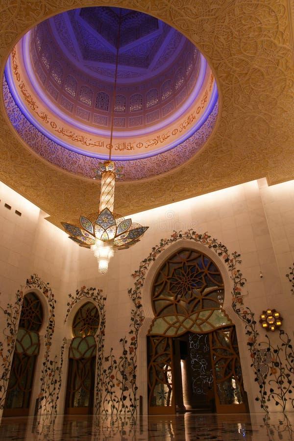 Lo sceicco zayed la moschea nell'Abu Dhabi, UAE - interiore fotografie stock