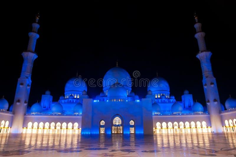 Lo sceicco zayed la moschea nell'Abu Dhabi, UAE, Medio Oriente immagini stock libere da diritti