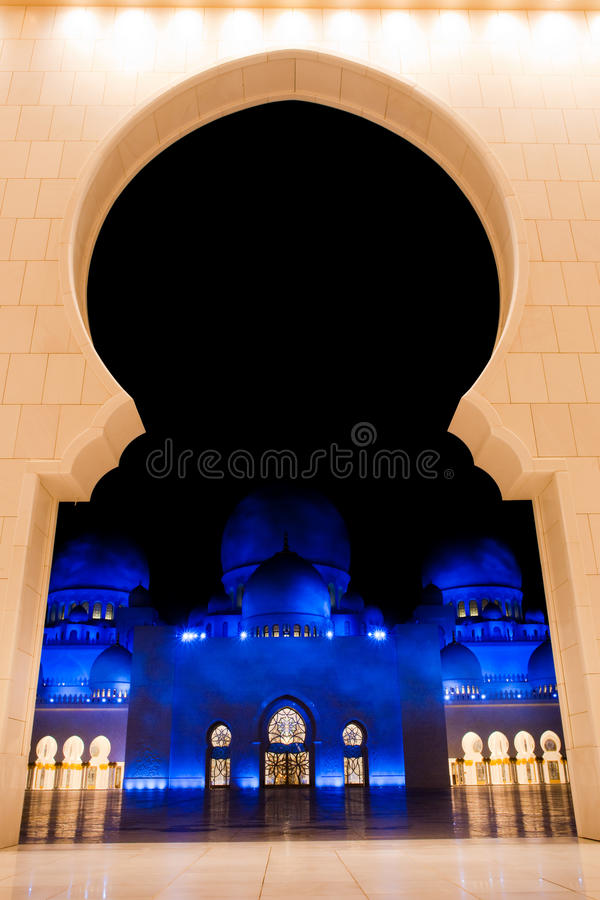 Lo sceicco zayed la moschea nell'Abu Dhabi, UAE, Medio Oriente fotografia stock libera da diritti