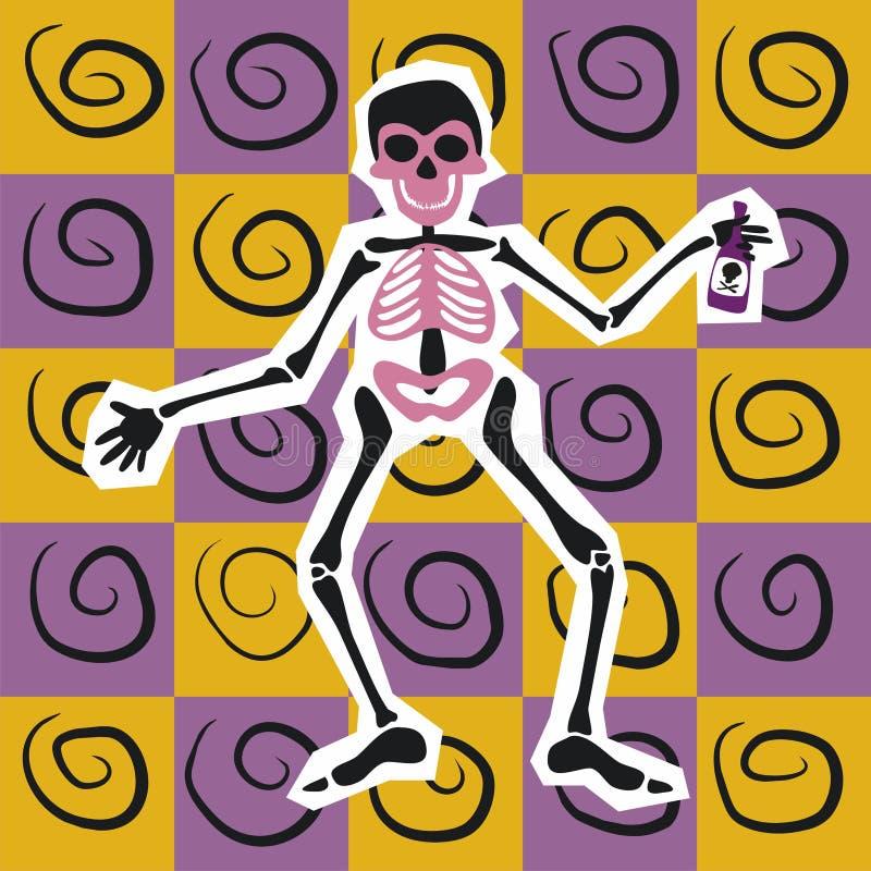 Lo scheletro felice fotografia stock libera da diritti