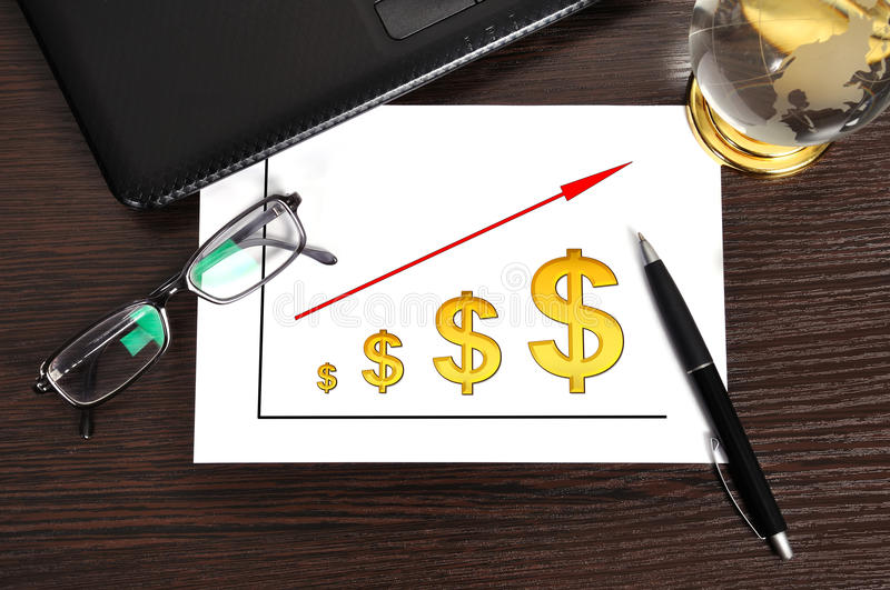 Lo schema usufruisce il dollaro immagine stock