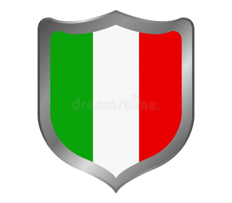 Lo schermo con la bandiera dell'Italia ha illustrato illustrazione vettoriale