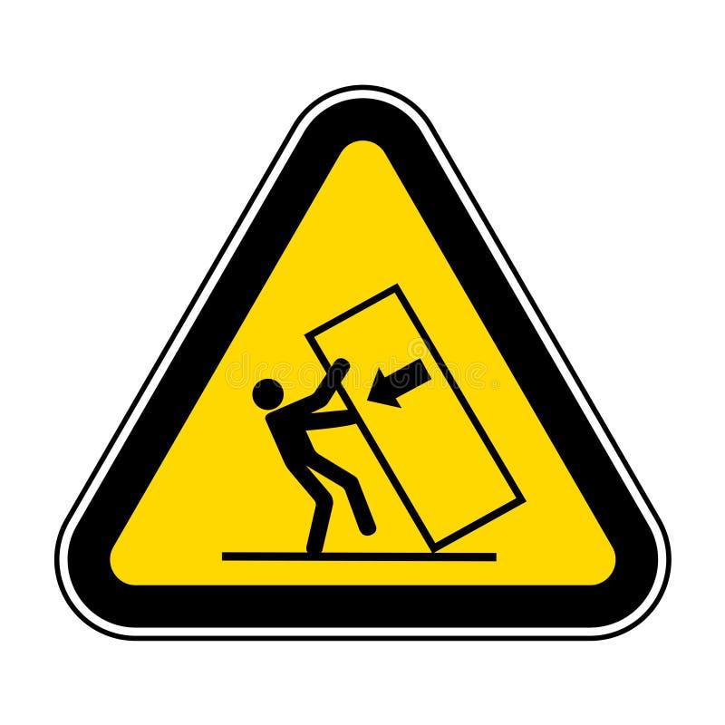 Lo schiacciamento del corpo ribalta l'isolato del segno di simbolo di rischio su fondo bianco, l'illustrazione ENV di vettore 10 illustrazione di stock