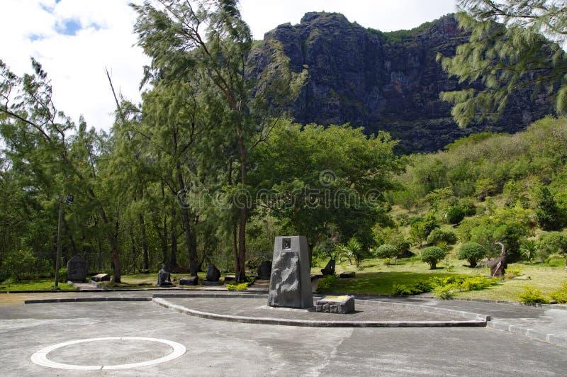 Lo schiavo Route Monument ha stabilito nel sud dell'isola delle Mauritius fotografia stock libera da diritti