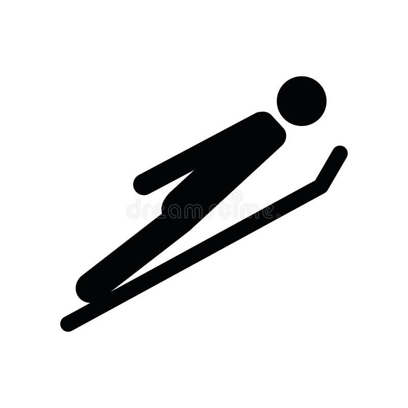 Lo sciatore decolla il pittogramma degli sport invernali royalty illustrazione gratis