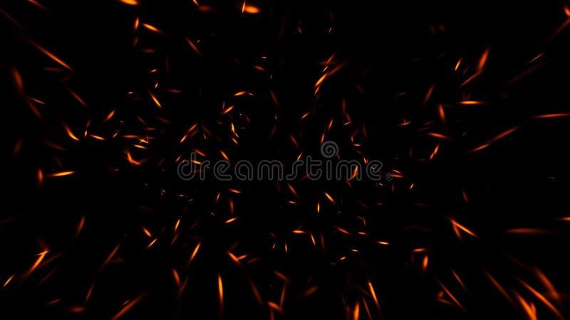 Lo scintillio illumina la priorit? bassa Le particelle astratte del fuoco accende le sovrapposizioni del fondo o di struttura fotografie stock libere da diritti