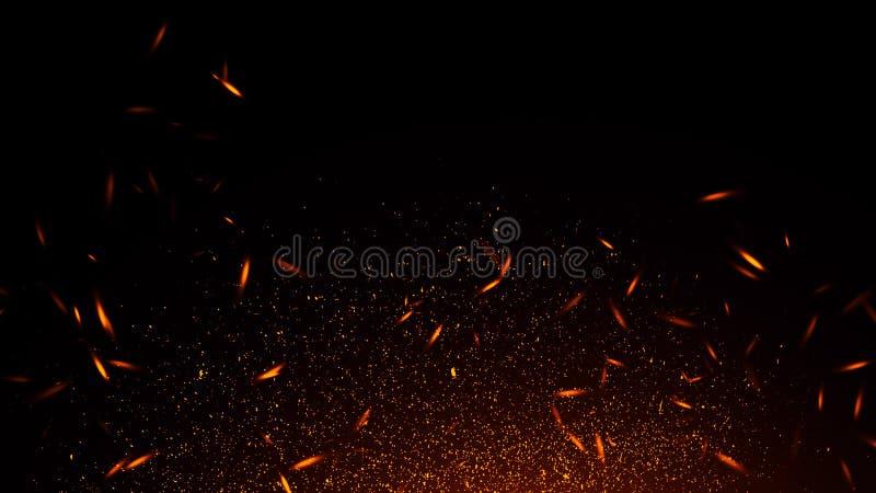 Lo scintillio illumina la priorit? bassa Le particelle astratte del fuoco accende le sovrapposizioni del fondo o di struttura fotografia stock libera da diritti