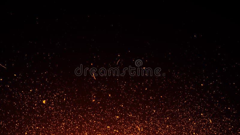 Lo scintillio illumina la priorit? bassa Le particelle astratte del fuoco accende le sovrapposizioni del fondo o di struttura immagini stock libere da diritti