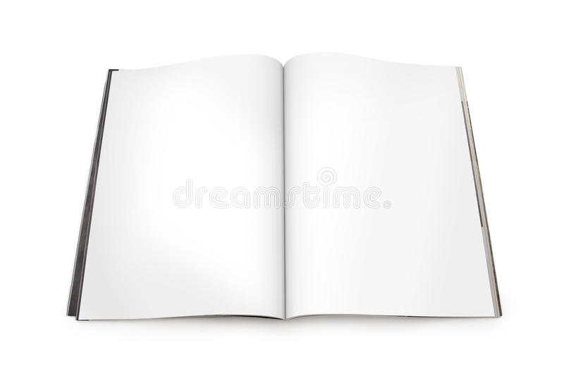 Lo scomparto aperto si è sparso con le pagine in bianco fotografia stock libera da diritti