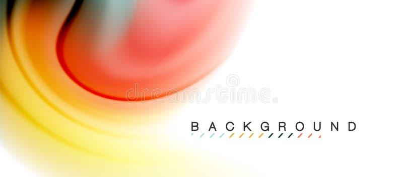 Lo scorrimento fluido di turbinio colora l'effetto di moto, fondo astratto olografico illustrazione di stock