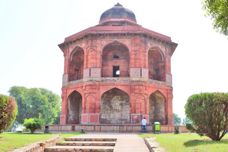 Lo Sher Mandal è un osservatorio, ottagonale nella forma fotografie stock