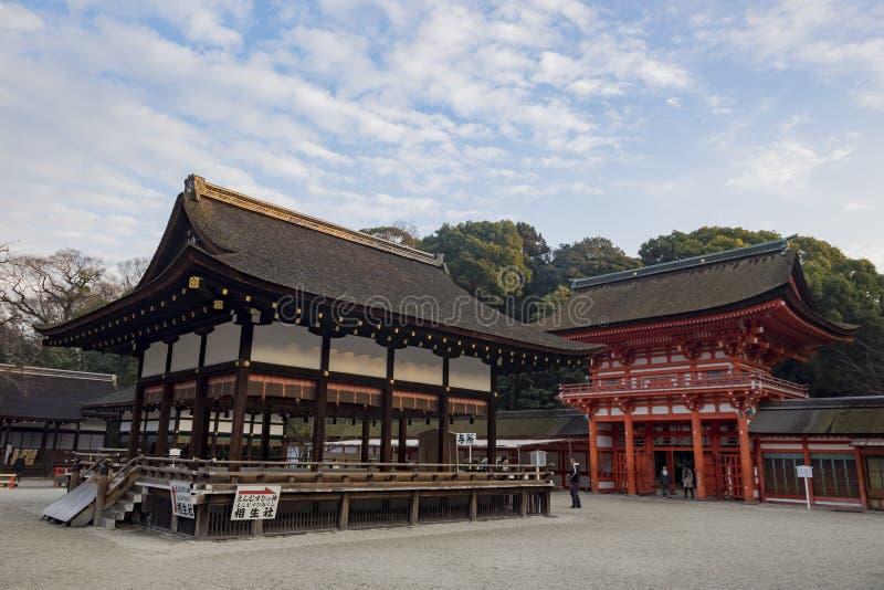 Lo Shimogamo famoso Jinja immagini stock libere da diritti