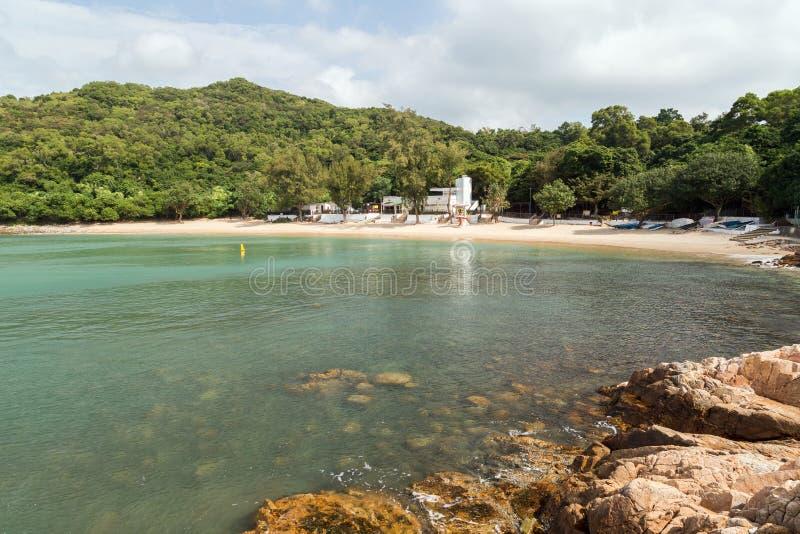 Lo So Shing Beach at the Lamma Island in Hong Kong royalty free stock image