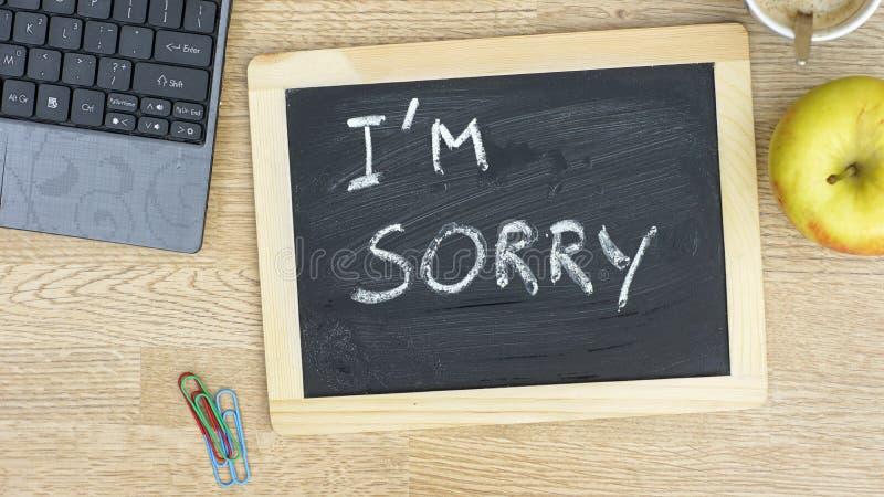 Lo siento imagen de archivo libre de regalías