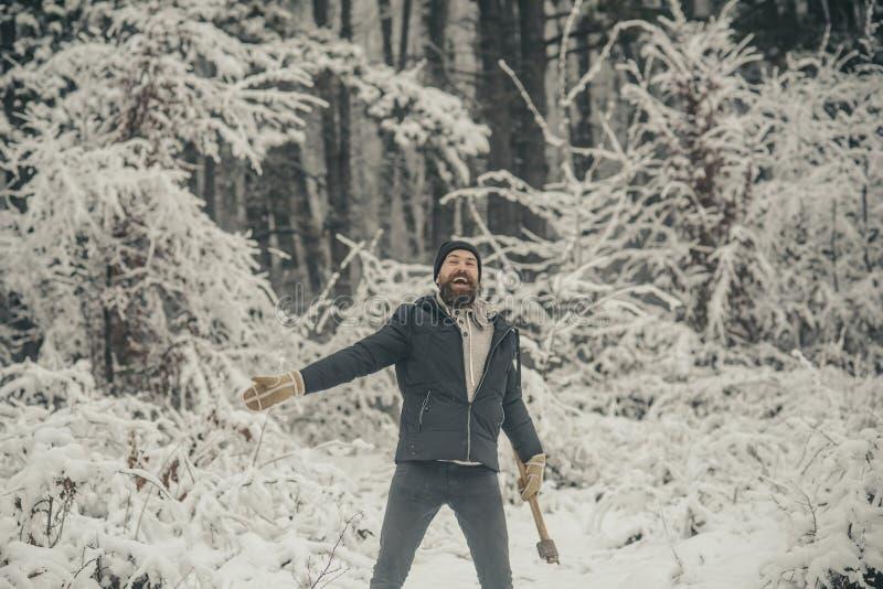 lo skincare e la barba si preoccupano nell'inverno, barba calda nell'inverno immagine stock