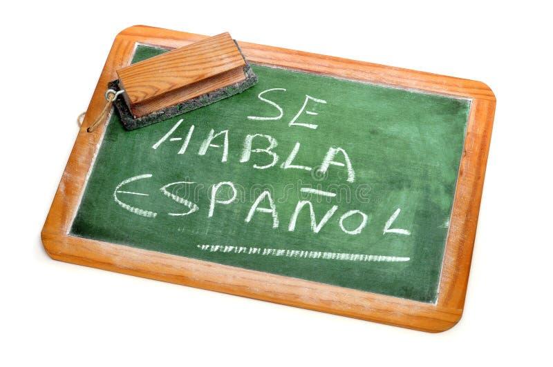 Lo Spagnolo è parlato fotografia stock libera da diritti