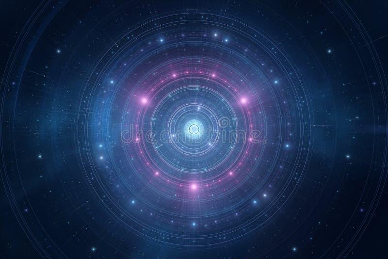 Lo spazio astratto stars il nuovo fondo futuristico dell'età royalty illustrazione gratis