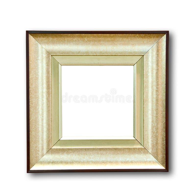 Lo spazio in bianco del telaio di legno immagini stock