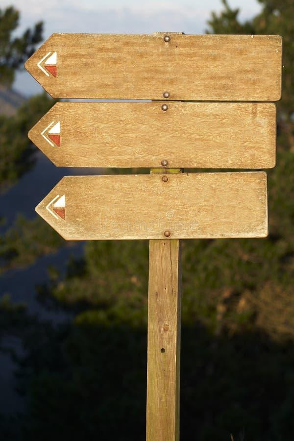Lo spazio in bianco di legno del tabellone per le affissioni aggiunge il vostro testo fotografia stock