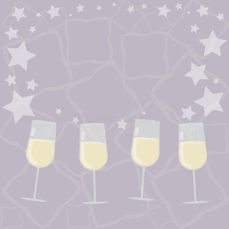 Lo spazio che vuoto della copia di concetto di affari di progettazione astratto moderno riempimento sfondo i vetri di vino del co illustrazione vettoriale