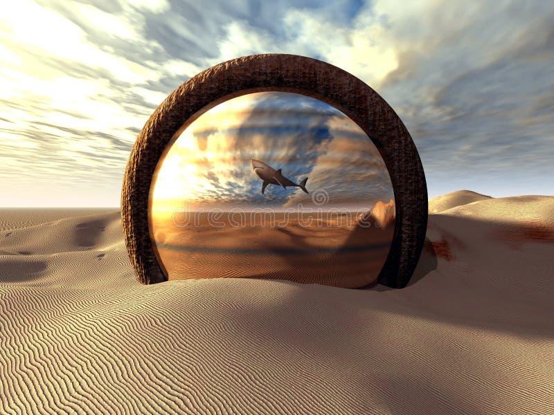 Lo specchio illustrazione di stock