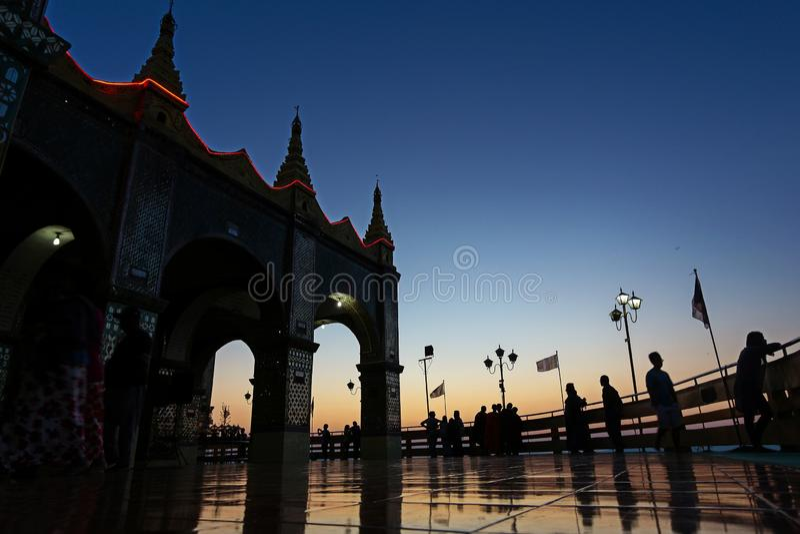 Lo spirito del Myanmar fotografie stock
