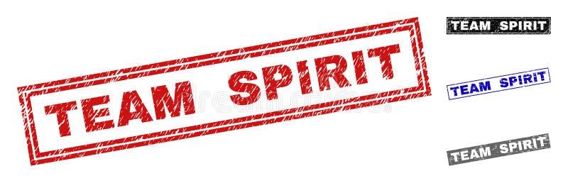 Lo SPIRITO di GRUPPO di lerciume ha strutturato le filigrane di rettangolo royalty illustrazione gratis