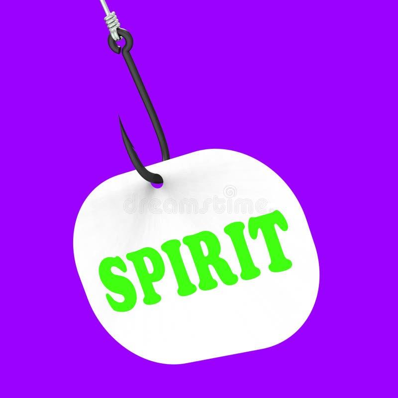 Lo spirito sul gancio significa l'ente spirituale o la purezza royalty illustrazione gratis