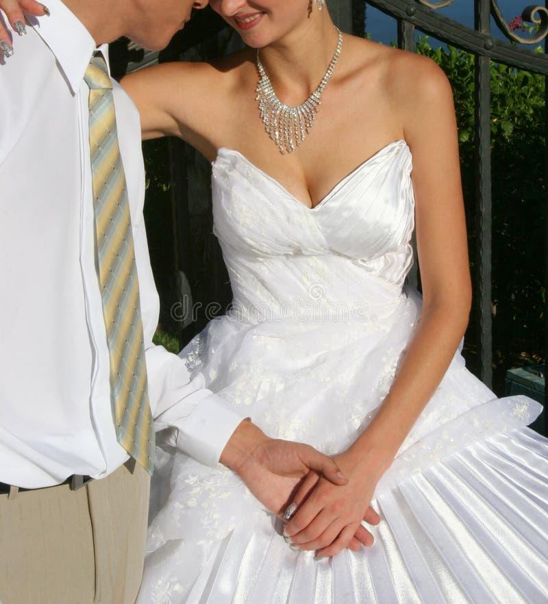 Lo sposo e la sposa fotografia stock