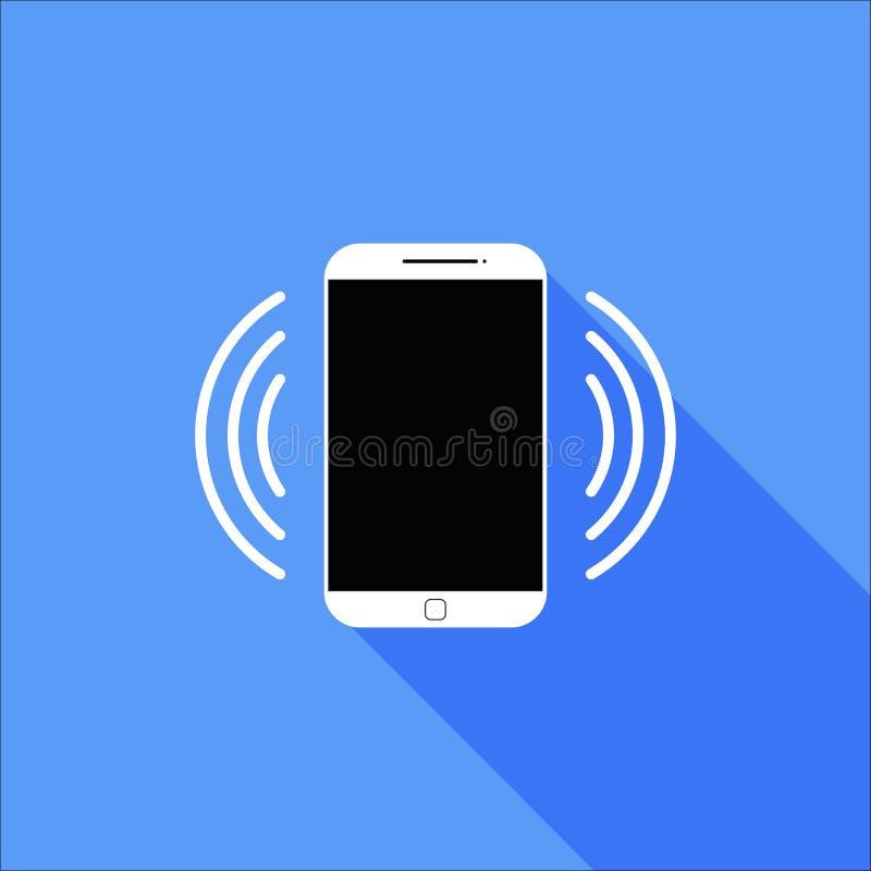 Lo squillo piano o vibra l'icona dello Smart Phone fotografia stock