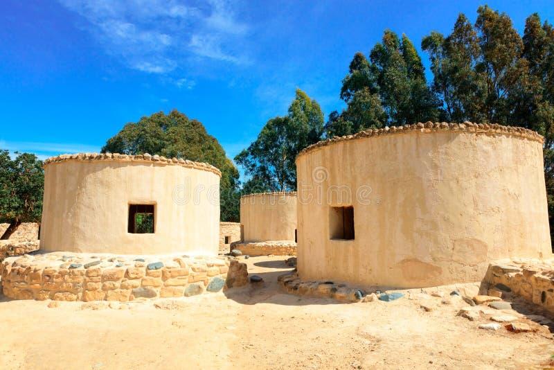 Lo stabilimento neolitico di Choirokoitia nel Cipro fotografia stock