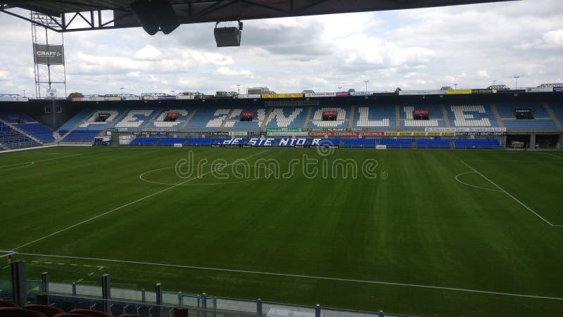 Lo stadio del PEC Zwolle dall'interno immagini stock libere da diritti