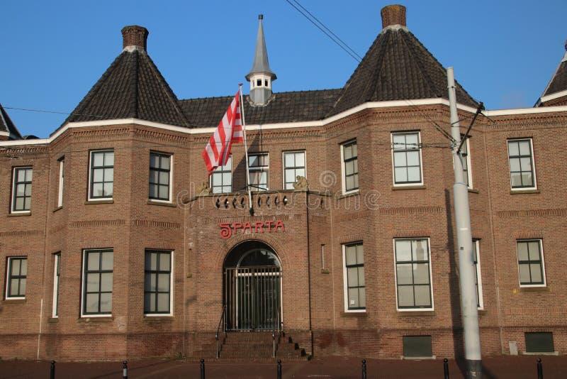 Lo stadio della squadra di football americano Sparta ha nominato il castello di Kasteel nell'ovest di Rotterdam fotografia stock