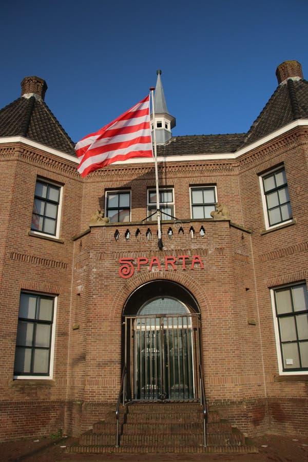 Lo stadio della squadra di football americano Sparta ha nominato il castello di Kasteel nell'ovest di Rotterdam fotografia stock libera da diritti