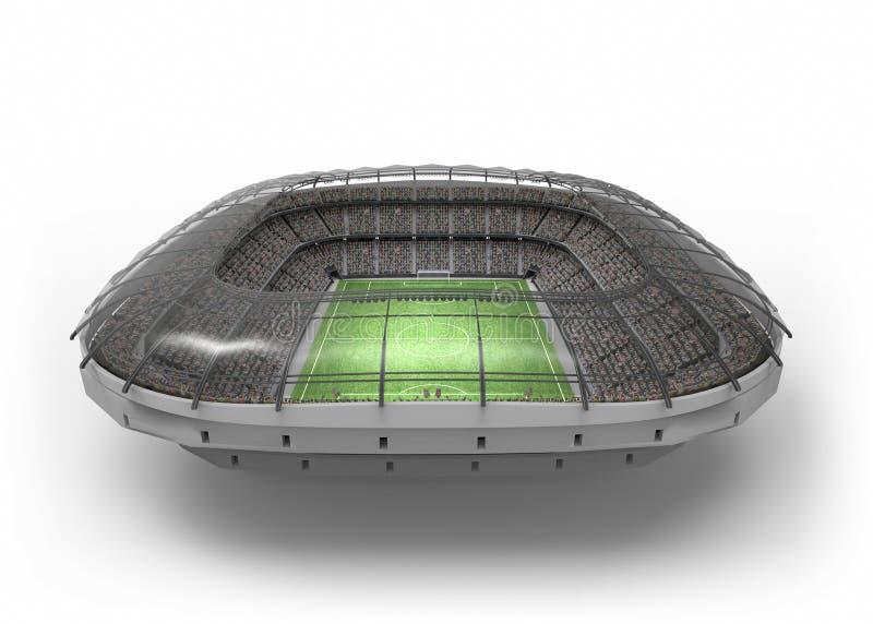 Lo stadio di calcio immaginario, rappresentazione 3d royalty illustrazione gratis