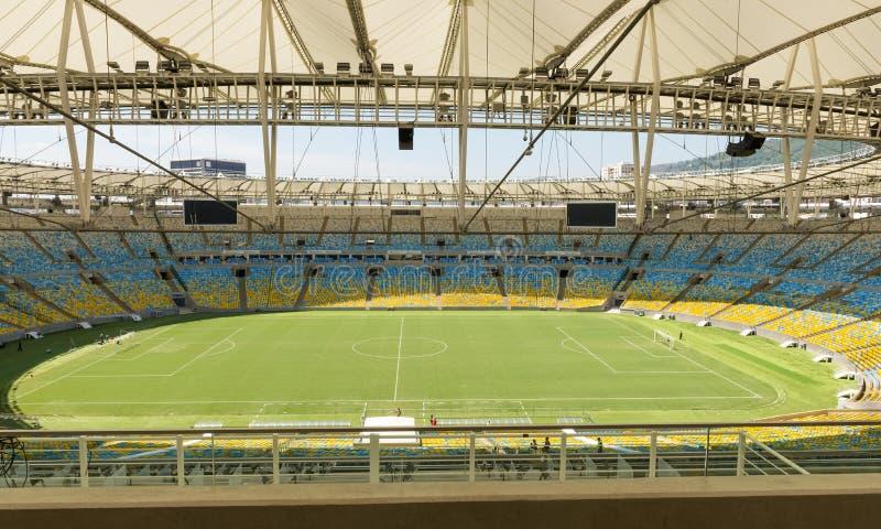 Lo stadio di Maracana in Rio de Janeiro fotografie stock libere da diritti