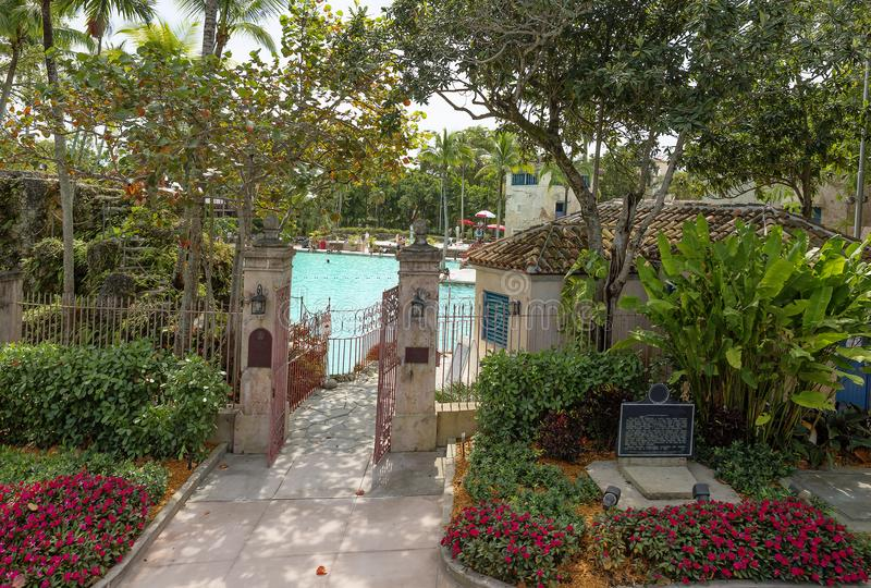 Lo stagno veneziano in Coral Gables, Miami fotografie stock